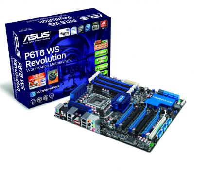 Asus P6T6 WS Revolution: High-End-X58-Board für 370 Euro. (Bild: Asus)