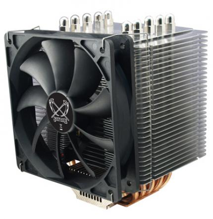 Scythe introduced a new fastening system for their CPU coolers that is compatible to the sockest LGA 1366 and LGA 775.