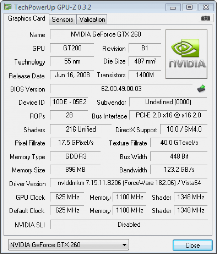 GPU-Z version 0.3.2 can also distinguish between 55 and 65 nm - but the data ist not always correct.
