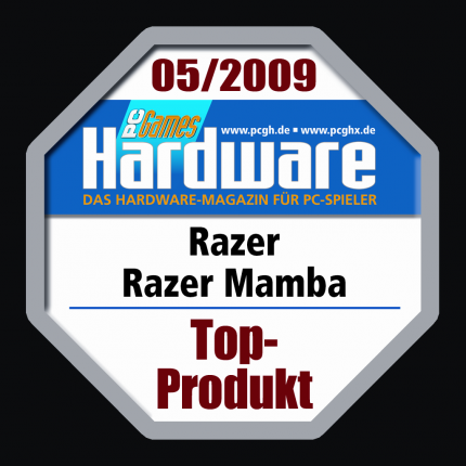 The Razer Mamba received a Top Product Award in issue 05/2009 of our German print magazine.