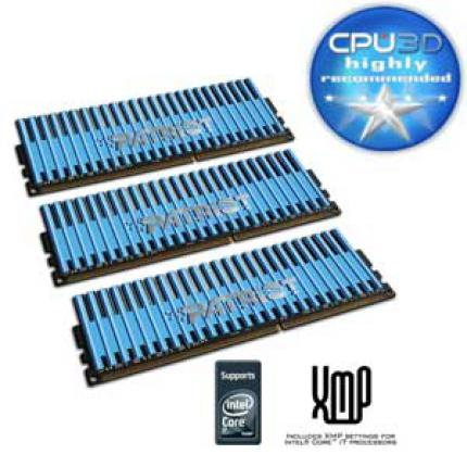 Patriot Viper: 3 x 2 GiByte DDR3-1600 8-8-8-24