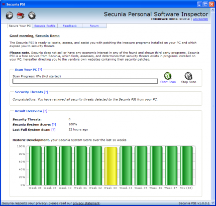 Secunia Personal Software Inspector (PSI)