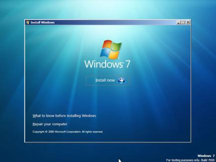 Windows 7 steht in den Startlöchern