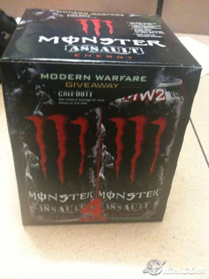 Call of Duty 6 Modern Warfare 2: Energy Drink für durstige krieger