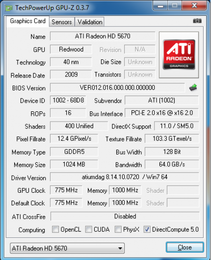 Ati Radeon HD 5670 auf Redwood-Basis