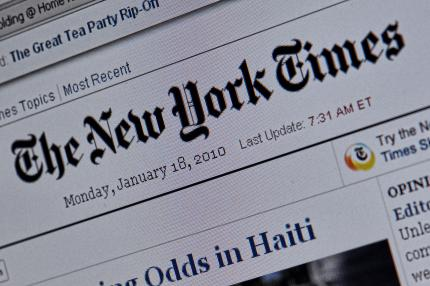 New York Times: Wechsel Paid-Content mit Apples Tablet-PC Islate