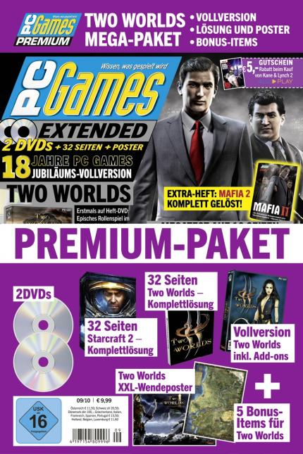 PC Games Premium inklusive dickem Two Worlds-Paket.