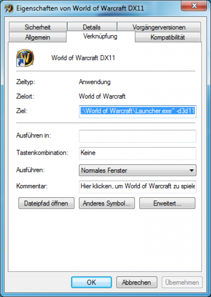 Cataclysm DX11: Extending the WoW Launcher.exe