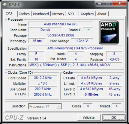 Phenom II X4 975 BE