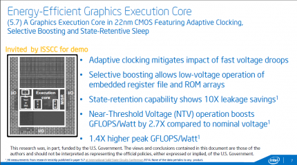 Energy-Efficient Graphics Execution Core