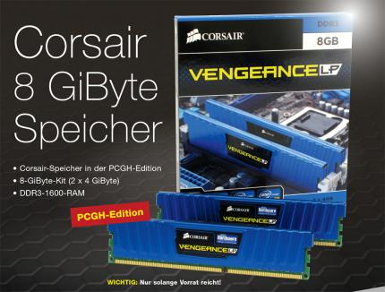 Corsair Vengeance Low Profile PCGH-Edition 8-GB-Kit DDR3-1600