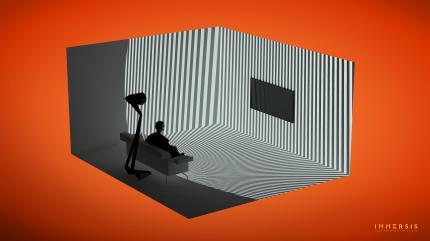 ces 2015 surround beamer immersis f r das wohnzimmer update kickstarter. Black Bedroom Furniture Sets. Home Design Ideas