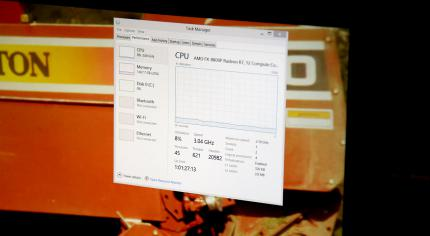 AMD FX 8800P Reference Notebook playing HEVC Video