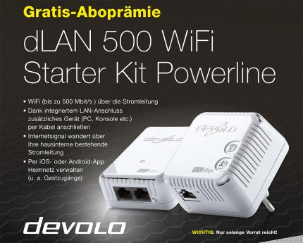 dLAN 500 WiFi Starter Kit Powerline