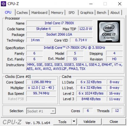Core i7-7800X: Ist der AVX512-Durchsatz beim Retail-Modell