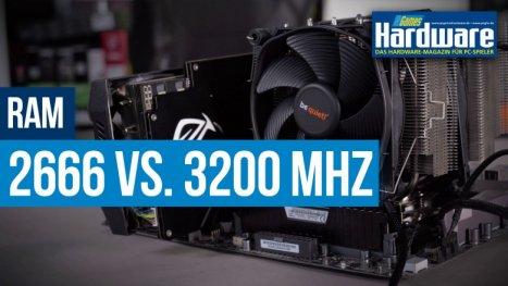 2.666 MHz vs. 3.200 MHz RAM: Wie viel bringt schneller Arbeitsspeicher in Spielen?