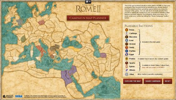 Появилась возможность заранее спланировать кампанию в Total War: Rome 2.