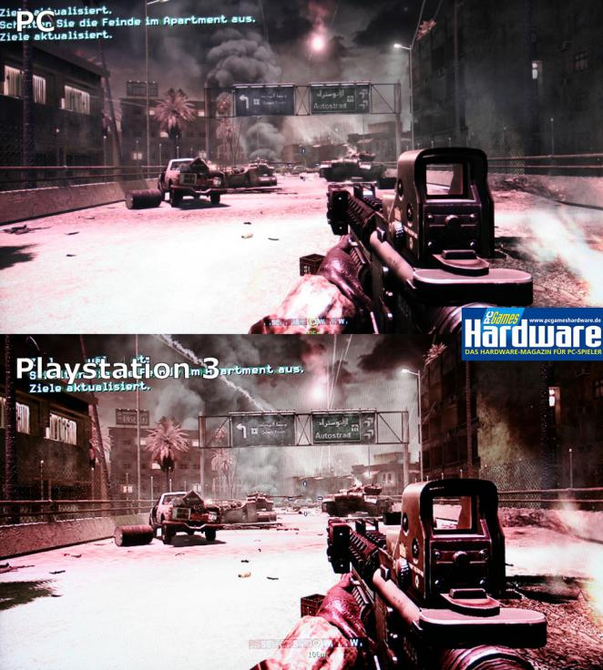 Call of Duty 4: image comparison: PC versus Playstation 3