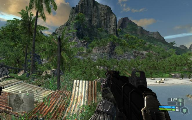 Crysis on a Chrome S27 (Bild: PCGH)