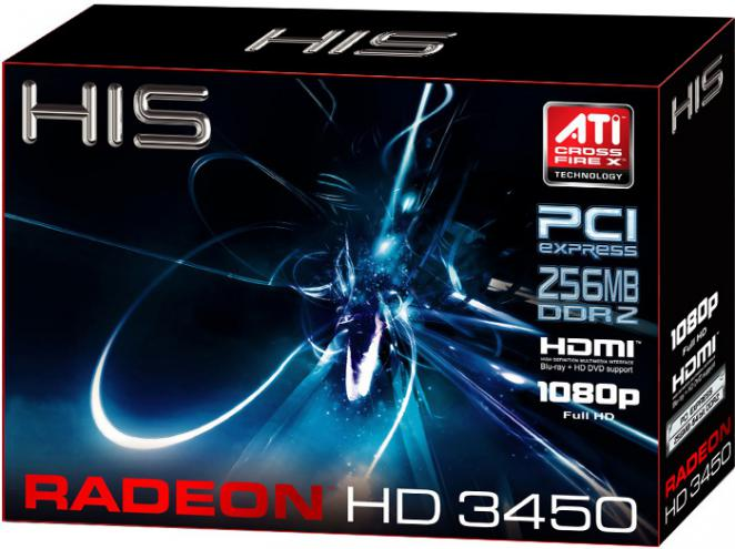 HIS Radeon HD 3450: 256 MiByte DDR2, Box (Bild: HIS)