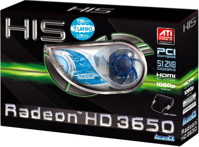 HIS Radeon HD 3650: 512 MiByte GDDR3, Box (Bild: HIS)