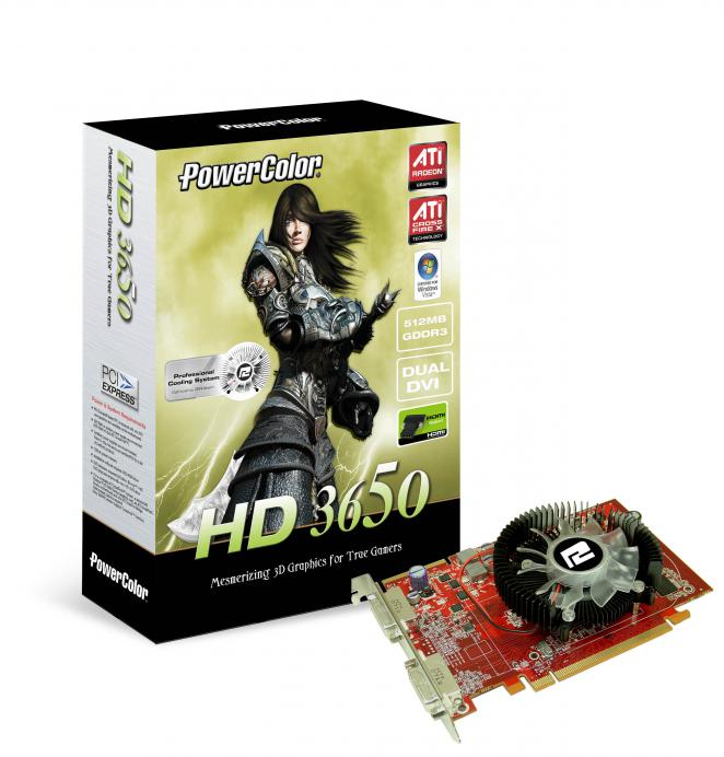 Powercolor Radeon HD3650: 512 MiByte DDR3 (Bild: Powercolor)