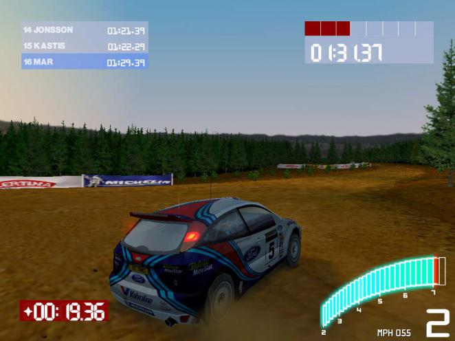 Colin McRae Rally 2.0: The vehicles might be pretty but the tracks could be called ugly.