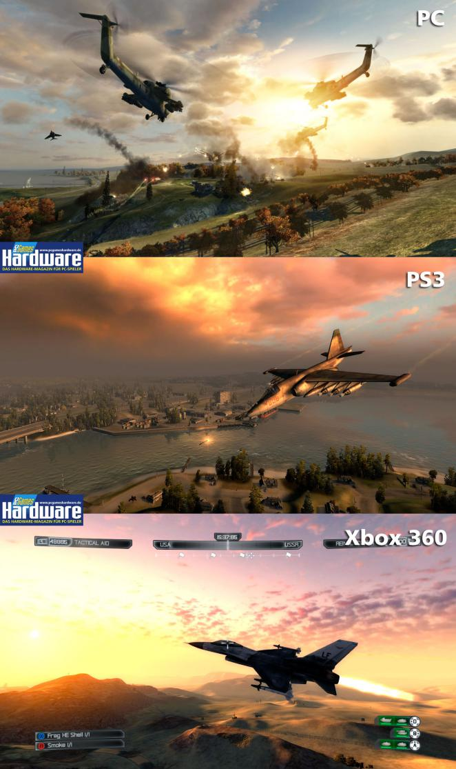 World in Conflict: Soviet Assault: PC vs PS3 vs Xbox 360