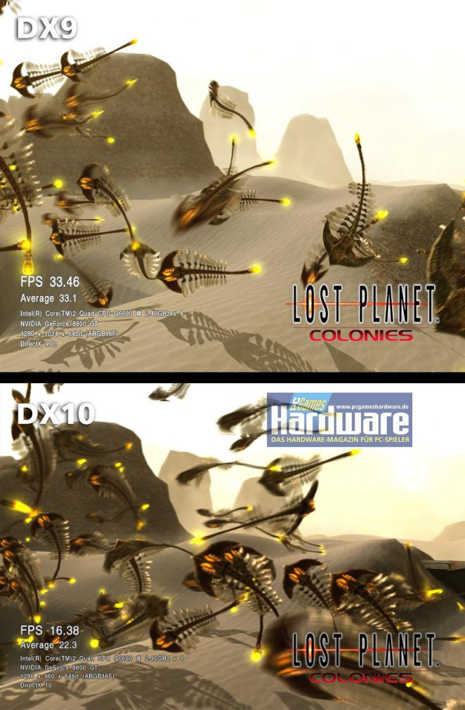 Lost Planet: Colonies: DX9 versus DX10