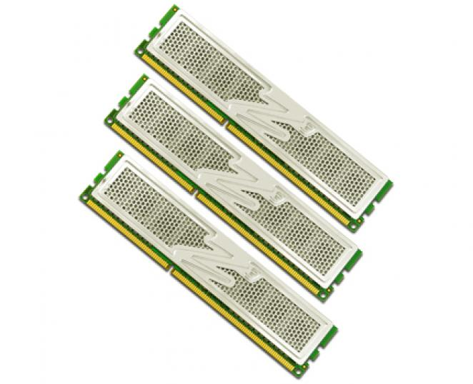 The DDR3 Triple Channel kits are available with three or six GiByte overall capacity. (picture: OCZ)