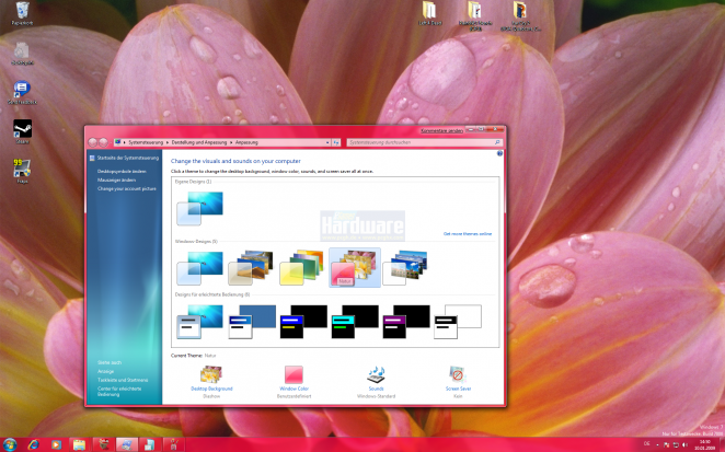 Different designs are already integrated into Windows 7.