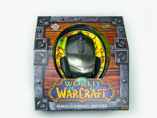 Die WoW MMO Gaming Mouse in ihrer Verpackung