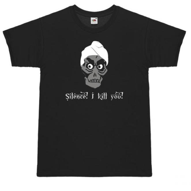 Herrenshirt 'Silence! I kill you!'