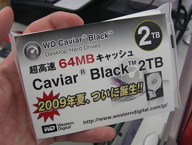 Western Digital's new 2 TByte hard drive.
