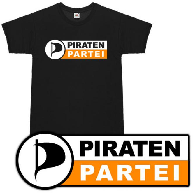 T-Shirt 'Piratenpartei'