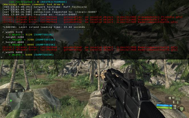 Crysis in 6.400 x 4.000: How to do it