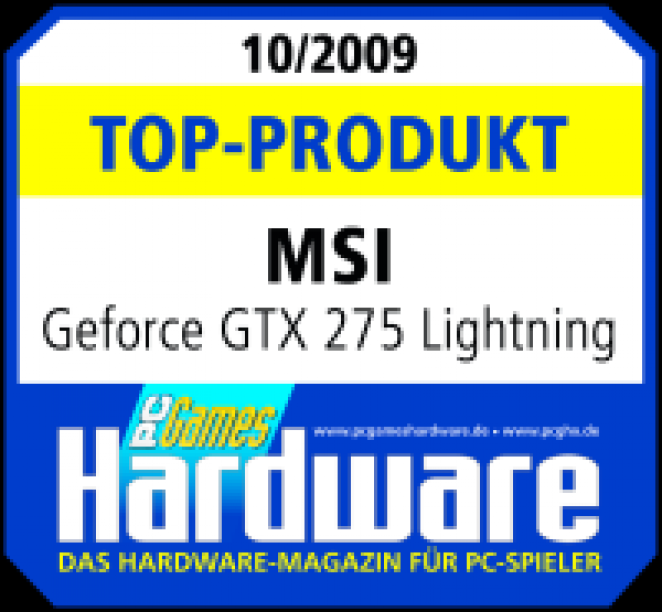 MSI Geforce GTX 275 Lightning mit 1.792 MiByte im Test