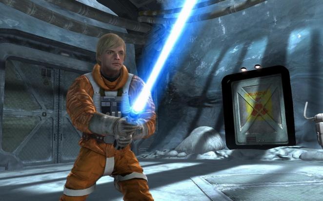 Star Wars: Force Unleashed - unverkennbar dank Lichtschwert
