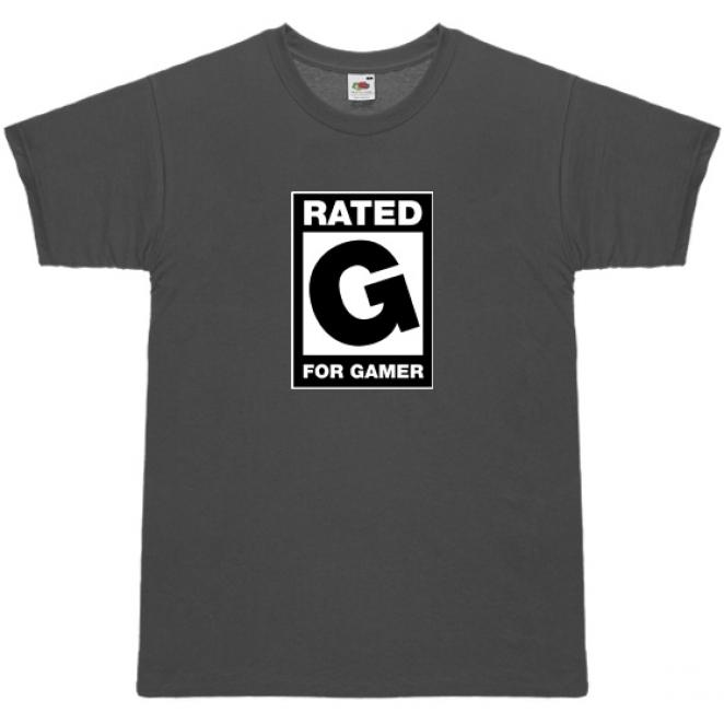 T-Shirt 'Rated G - for Gamer'