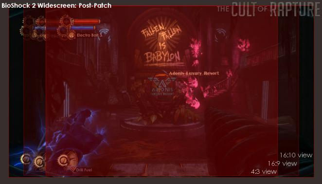 This is what Bioshock 2 will look like on widescreen displays after the problem has been patch.