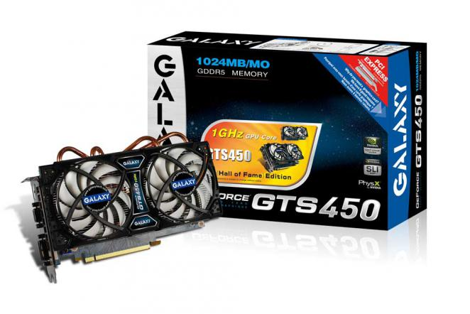 Galaxy Geforce GTS 450 Hall of Fame mit Twin Turbo Pro und 1,0 GHz - Update