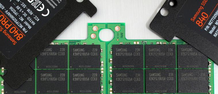 Samsung SSD 840 Basic 250 GB open side by side NAND