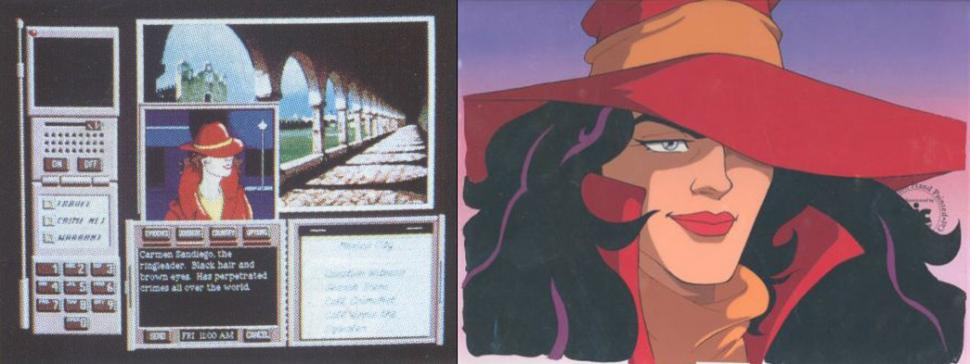 1985: Carmen Sandiego (Where in the World is Carmen Sandiego?)