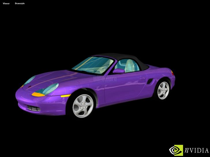 <b>Nvidia tech demos</b>: Porsche Boxster, Hardware-TnL-Demo of the Geforce 256 (1999)