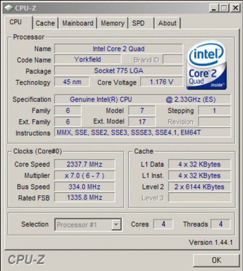 <b>C2Q Q9100</b>: 2,33 GHz und FSB 1333 und 2x 6 MiByte L2-Cache (Bild: Xtreview)