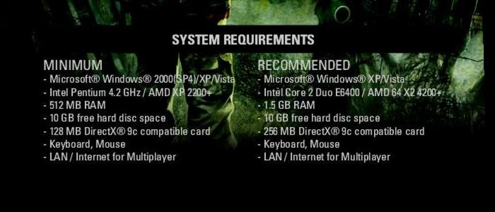 The system requirements of <b>Stalker Clear Sky</b> almost fully match those of Shadow of Chernobyl.