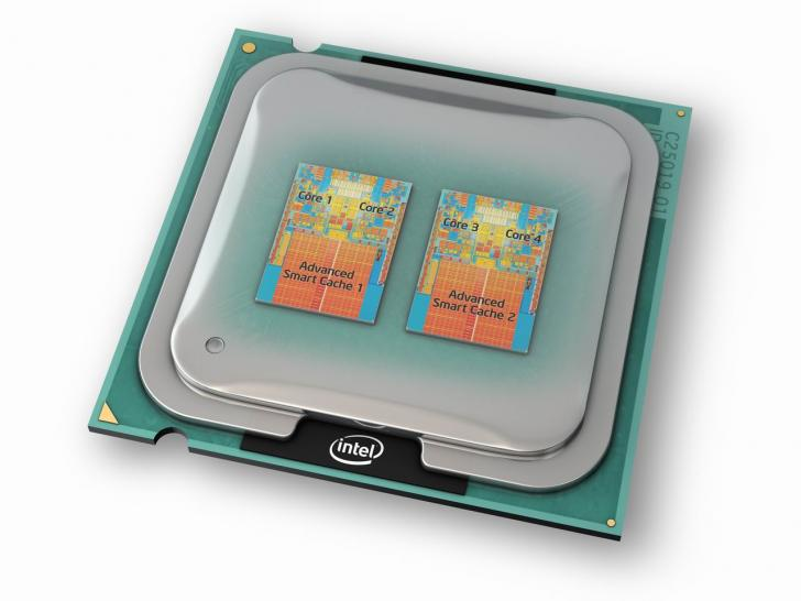 Intel Core 2 Quad: Marketing-Illustration.