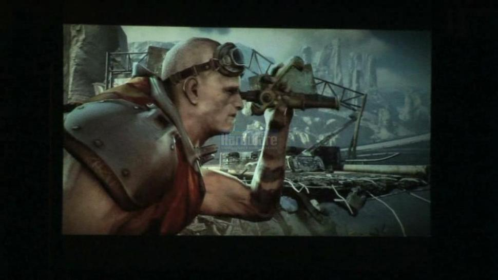 <b>id-Tech 5 Rage</b>: Screenshot of the HD trailer at Quakecon 08 (picture: PCGH, video: gametrailers.com)