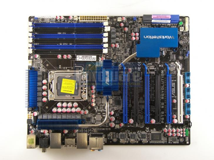 Asus P6T6 WS Revolution: X58 motherboard with Nvidia NF200 SLI chip