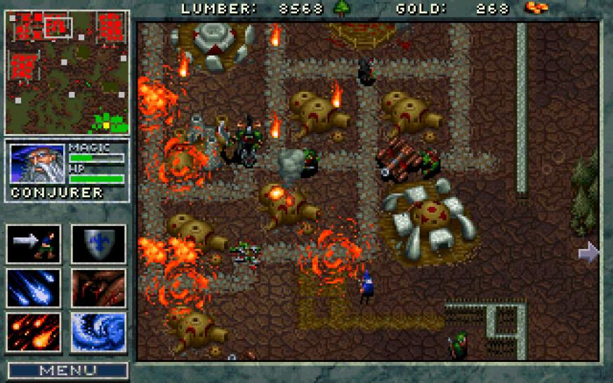 Warcraft: Humans & Orcs, 1994 (picture: mobygames.com). Warcraft 1 showed that real-time strategy could be fascinating even without live action clips.